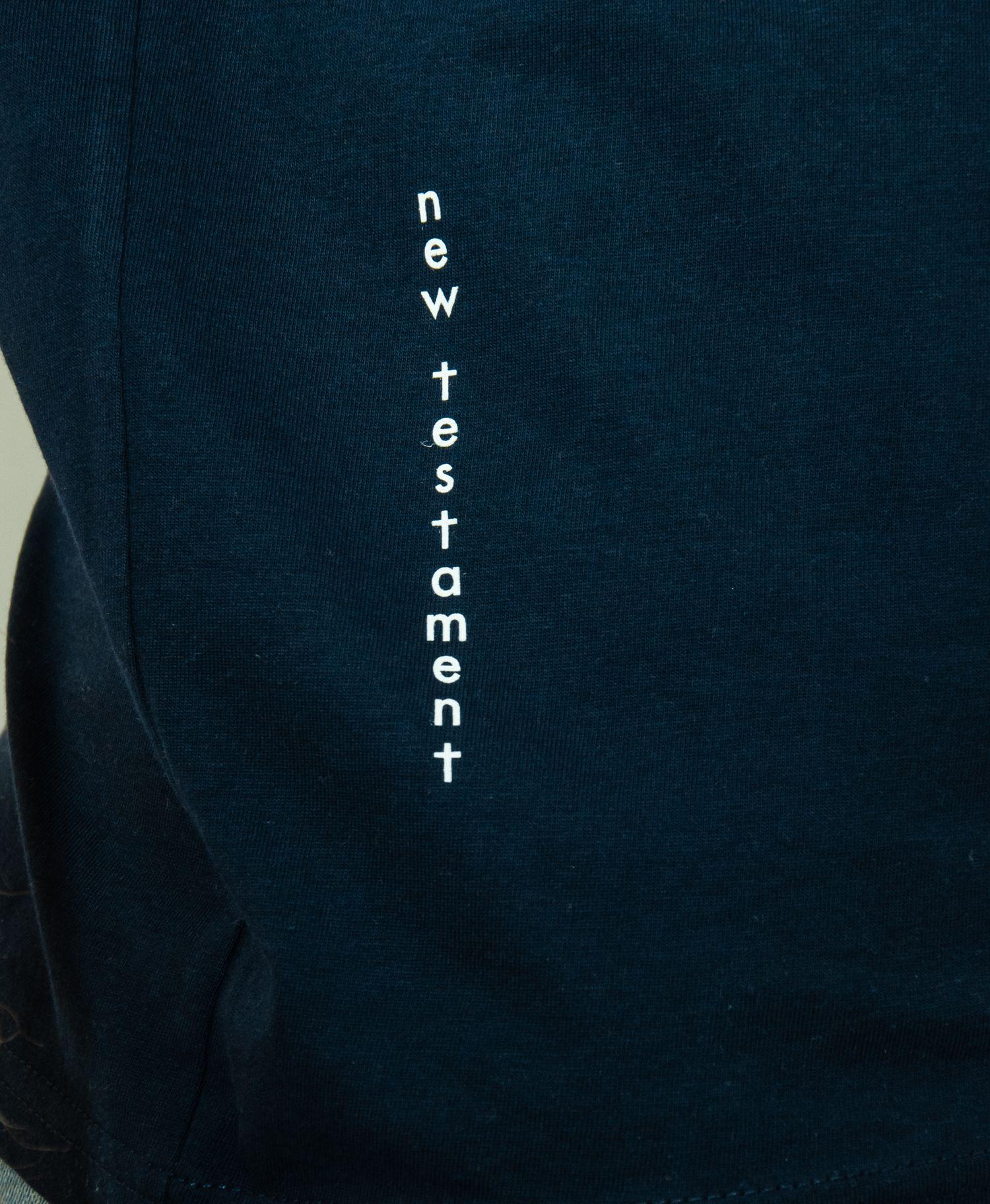 New Testament Original T Blauw Blue Dames_detail