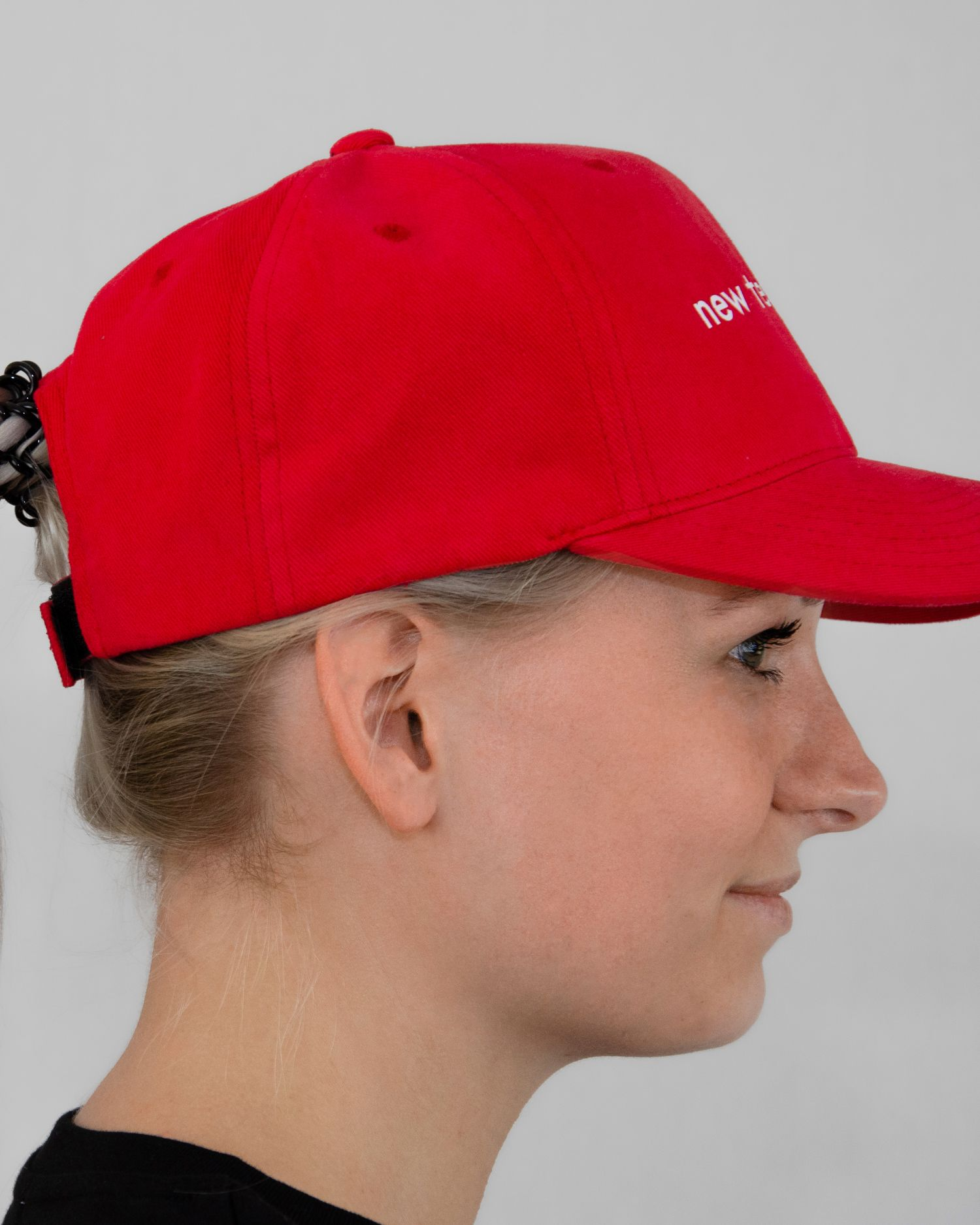 New Testament Original Classic Yupoong Cap Rood Red Dames-zijaanzicht