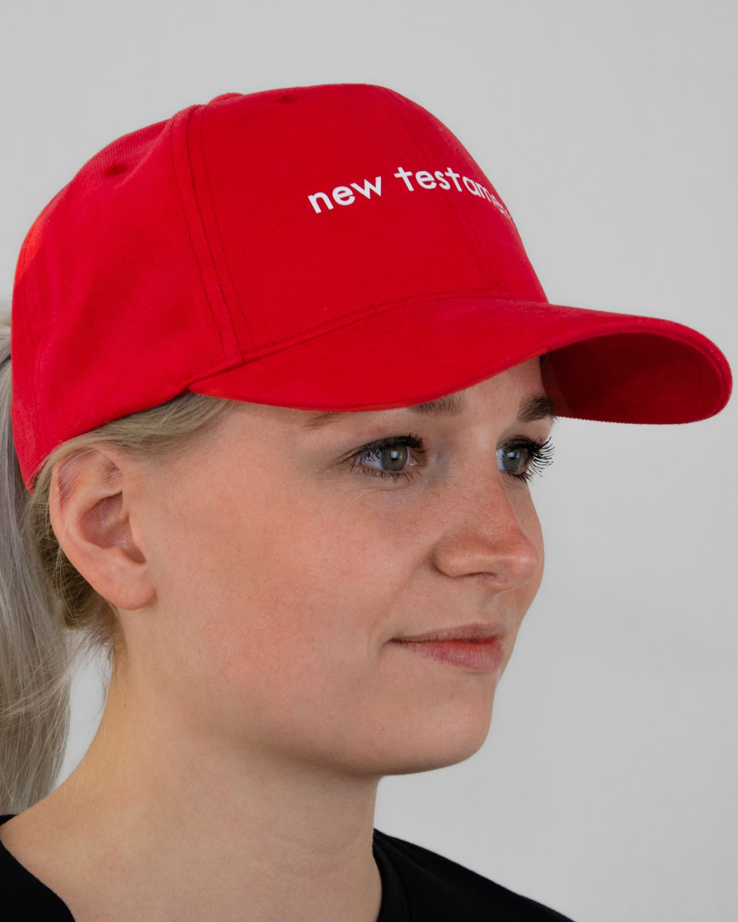 New Testament Original Classic Yupoong Cap Rood Red Dames-zijaanzicht2