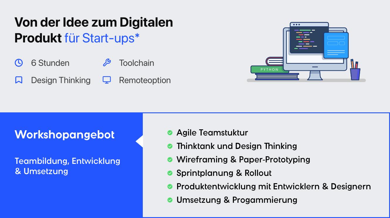 Digitale produktentwicklung für Start-ups Design Thinking und Toolchain