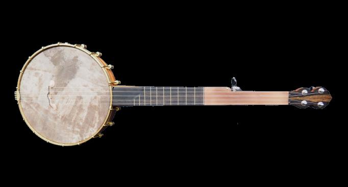No 26 Copper plate semi fretless Banjo