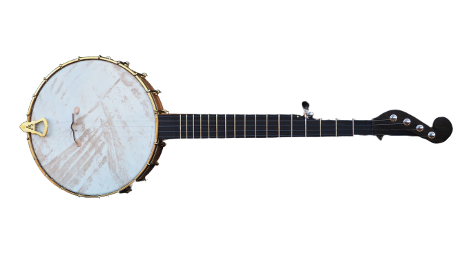 No 28 Cherry Banjo with Minstral Headstock