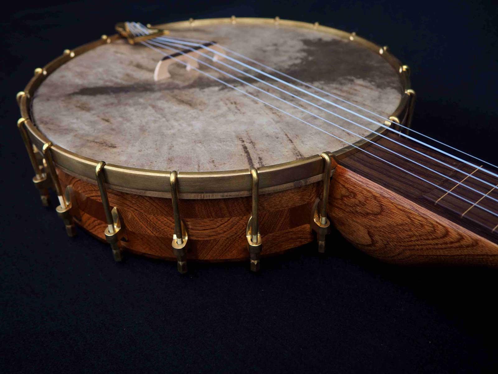 no 25 rosewood tone ring banjo vellum