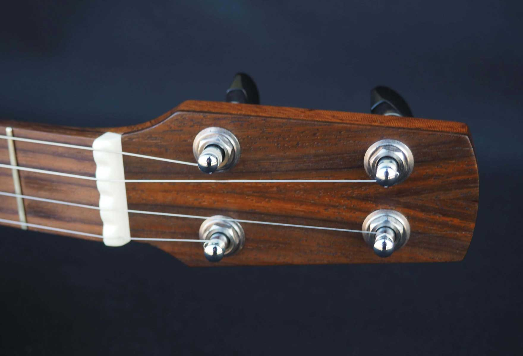 a scale open back banjo headstock