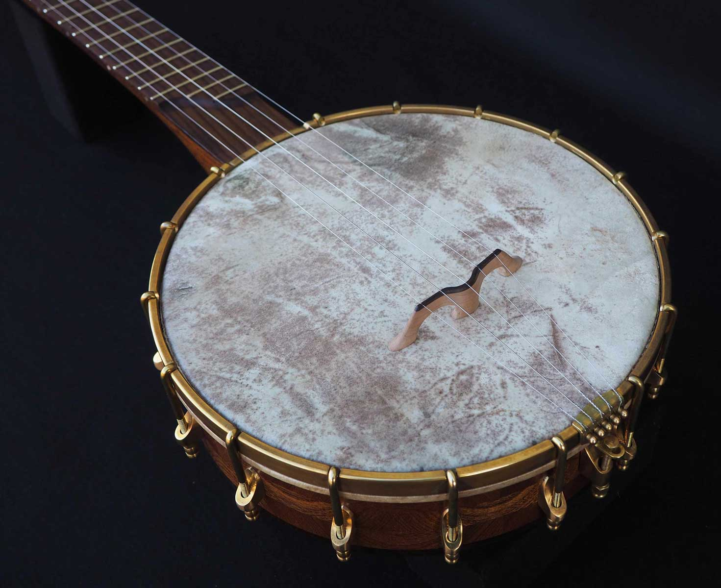 a scale open back banjo vellum