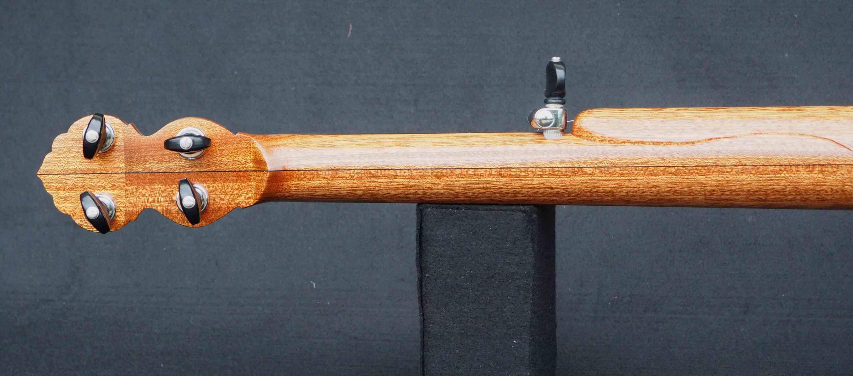 Copper plate semi fretless Banjo headstock