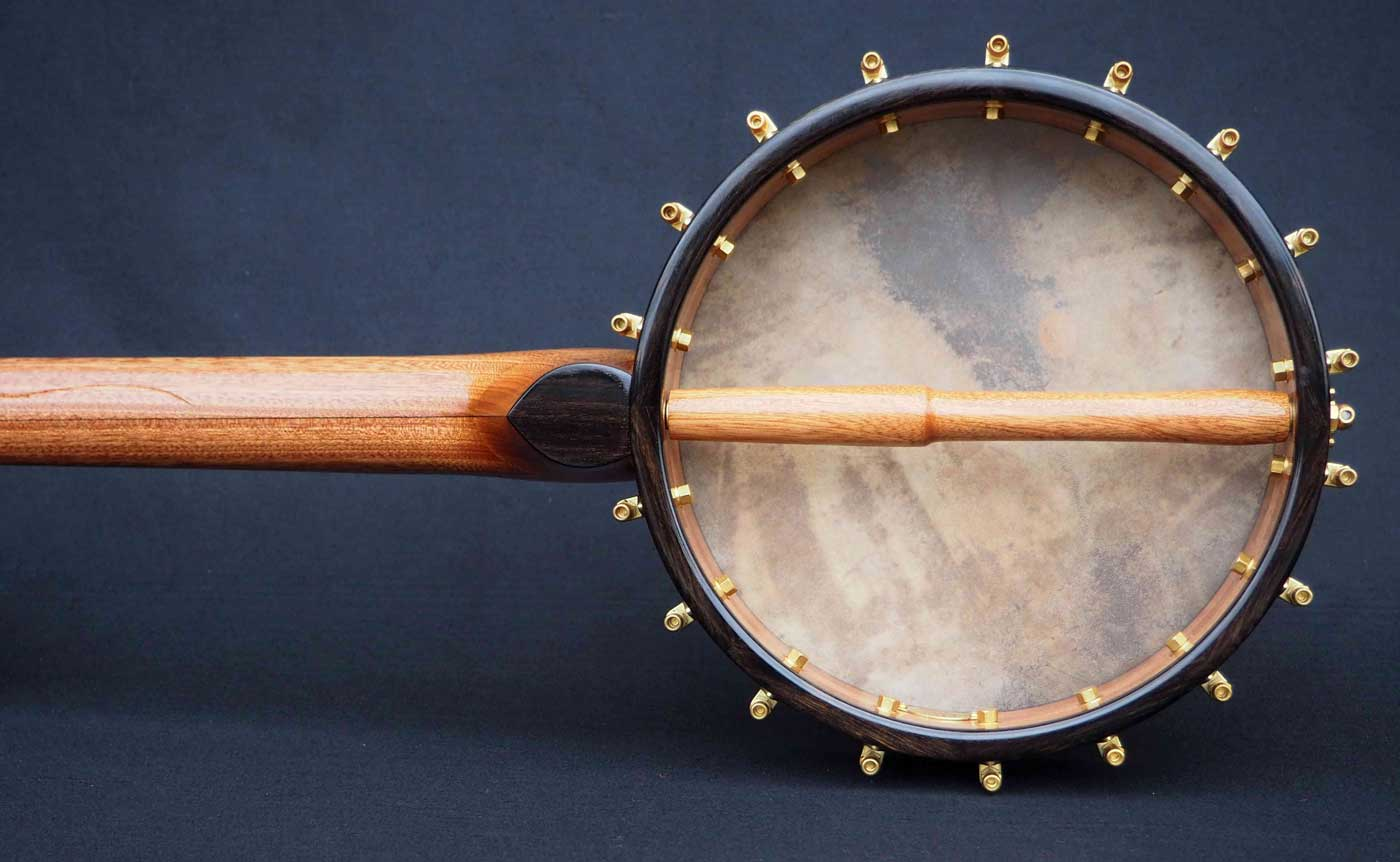 Copper plate semi fretless Banjo open back