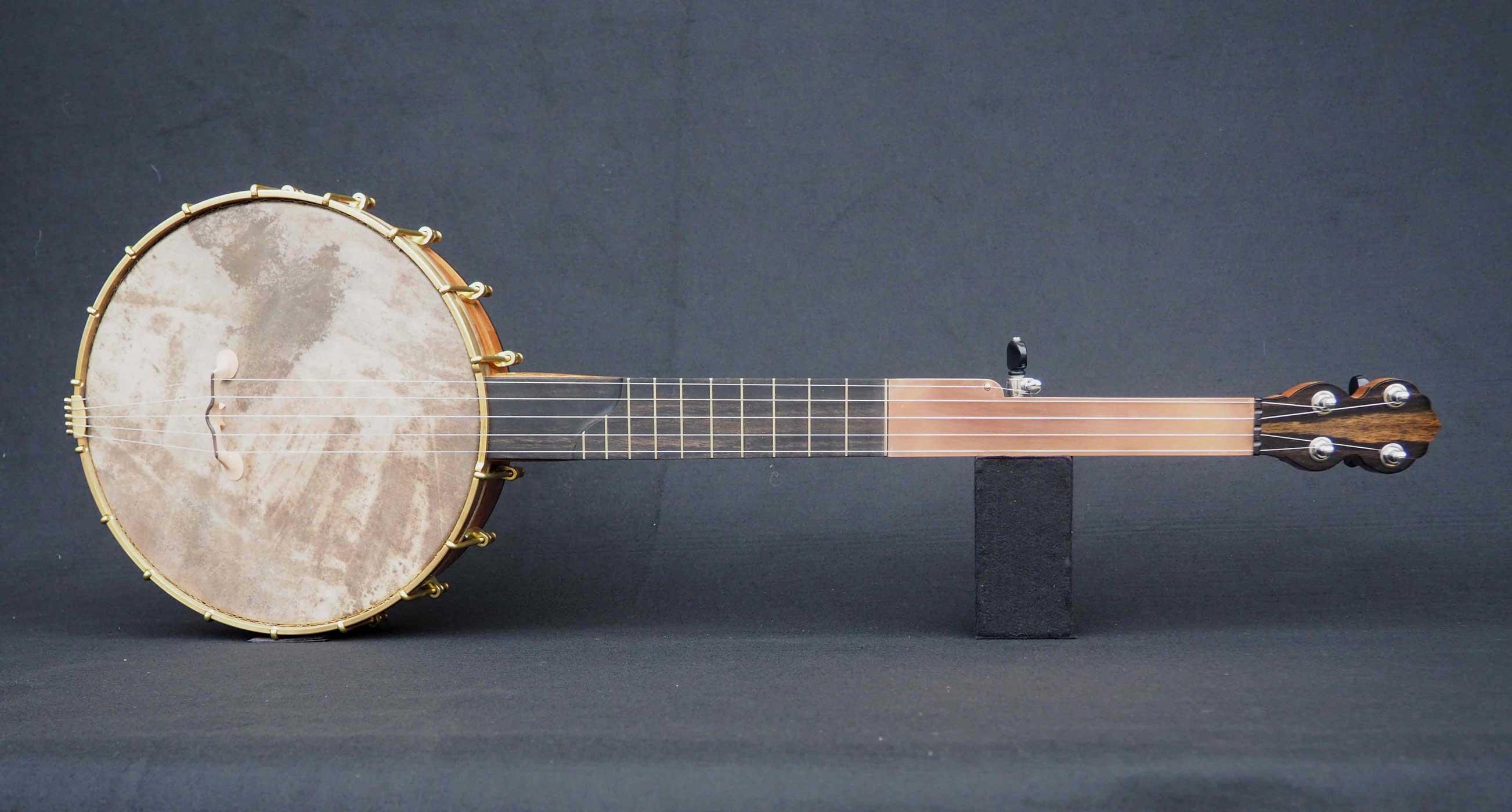 Copper plate semi fretless Banjo