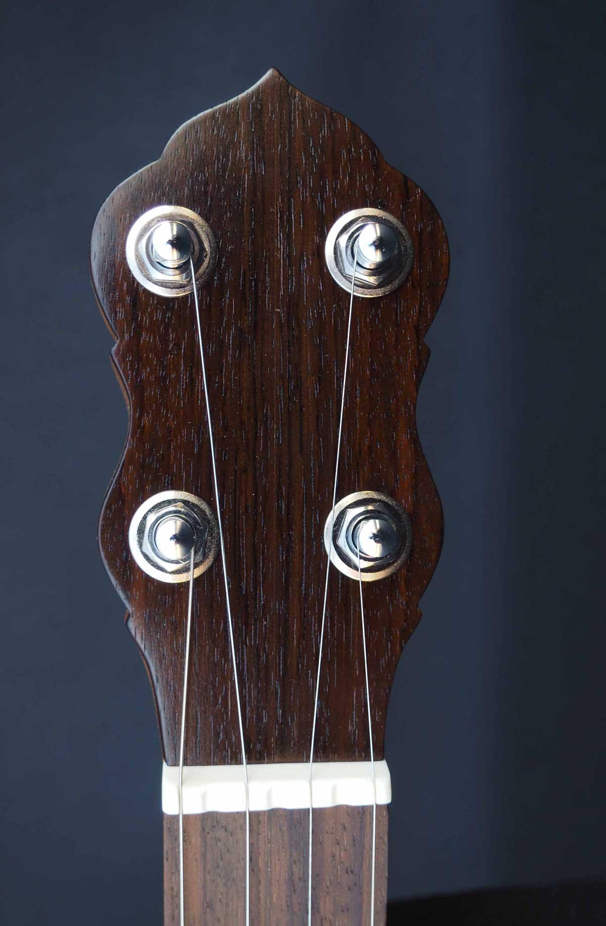 27 Sapele A scale Banjo headstock
