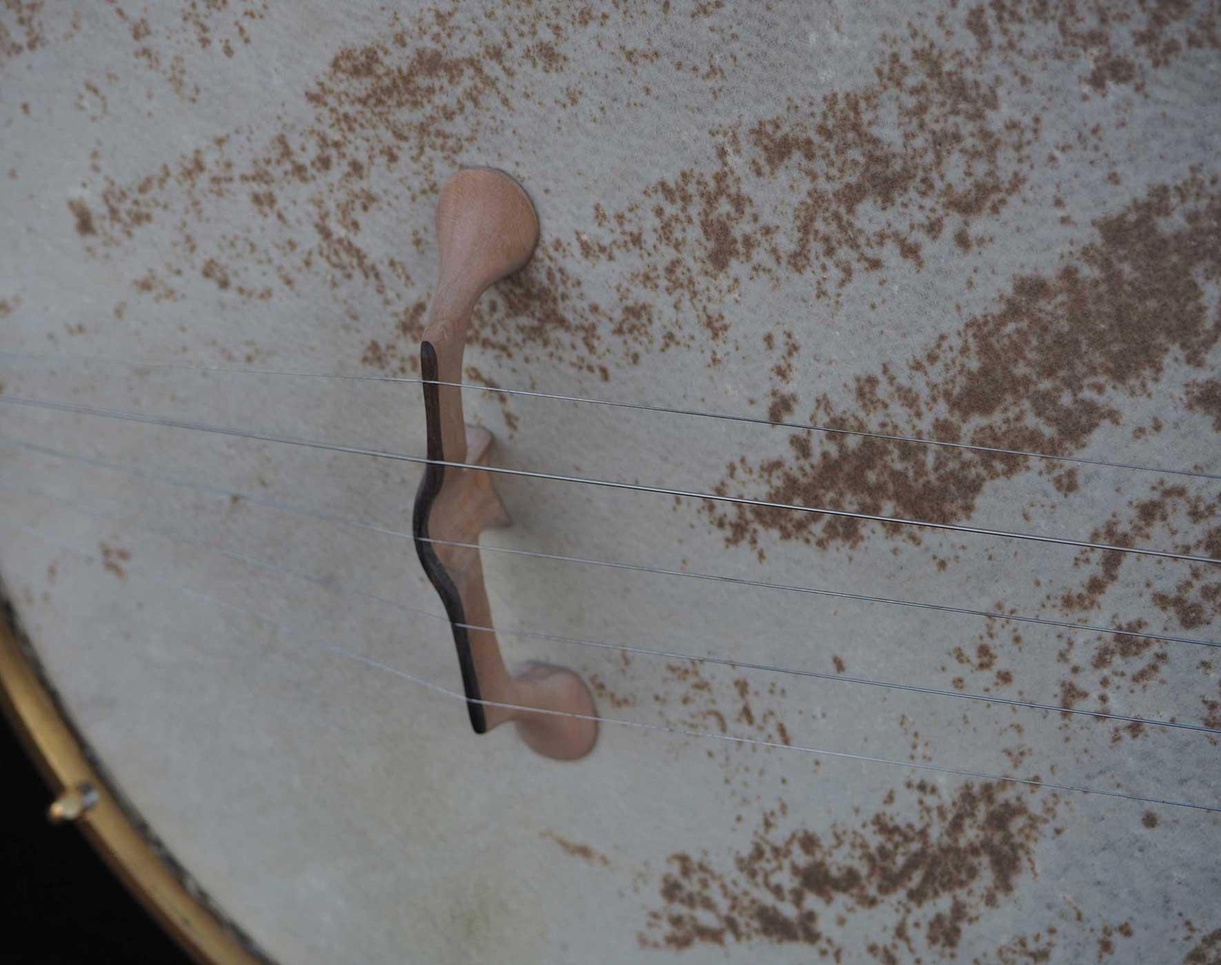 Cherry A scale Banjo vellum