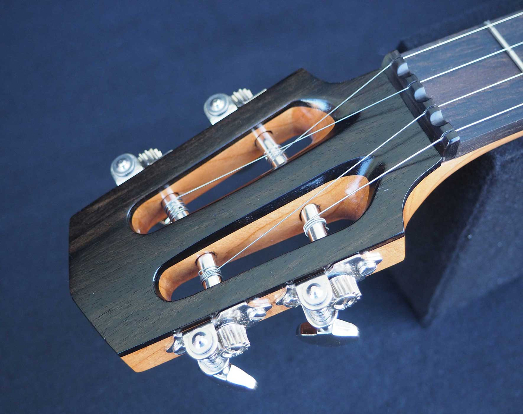 Cherry A scale Banjo headstock