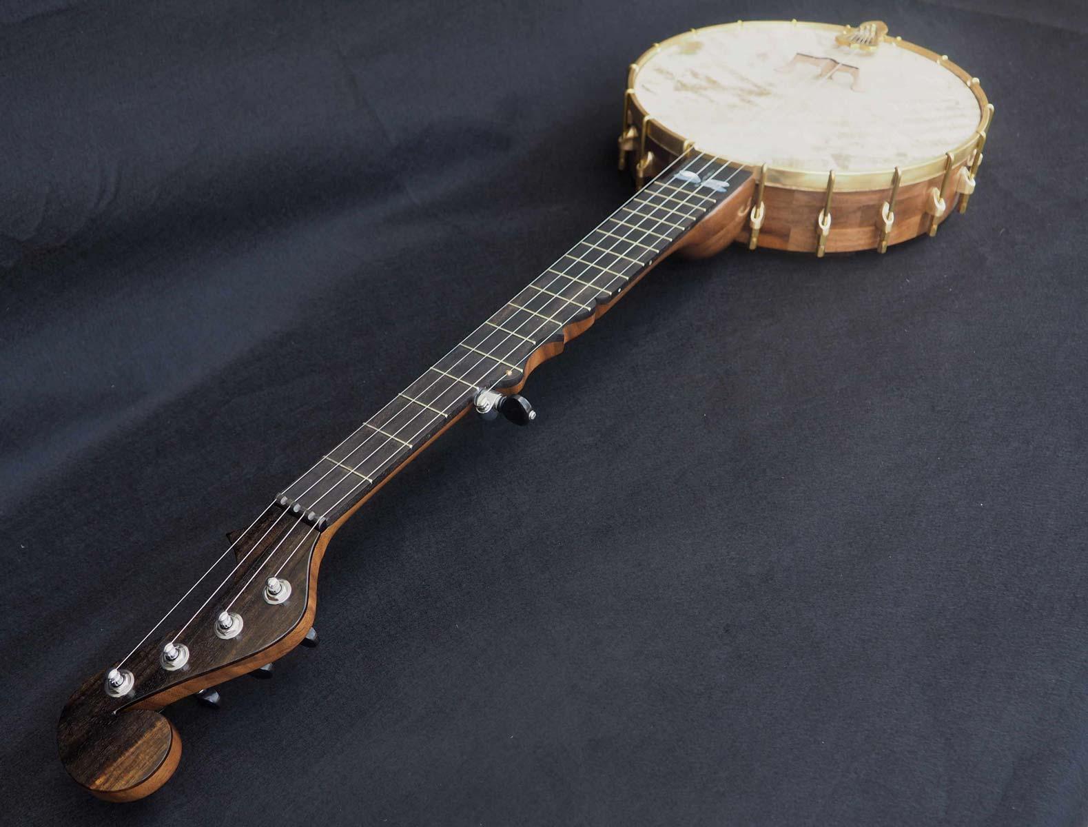 Dragonfly Inlay Banjo minstrel headstock