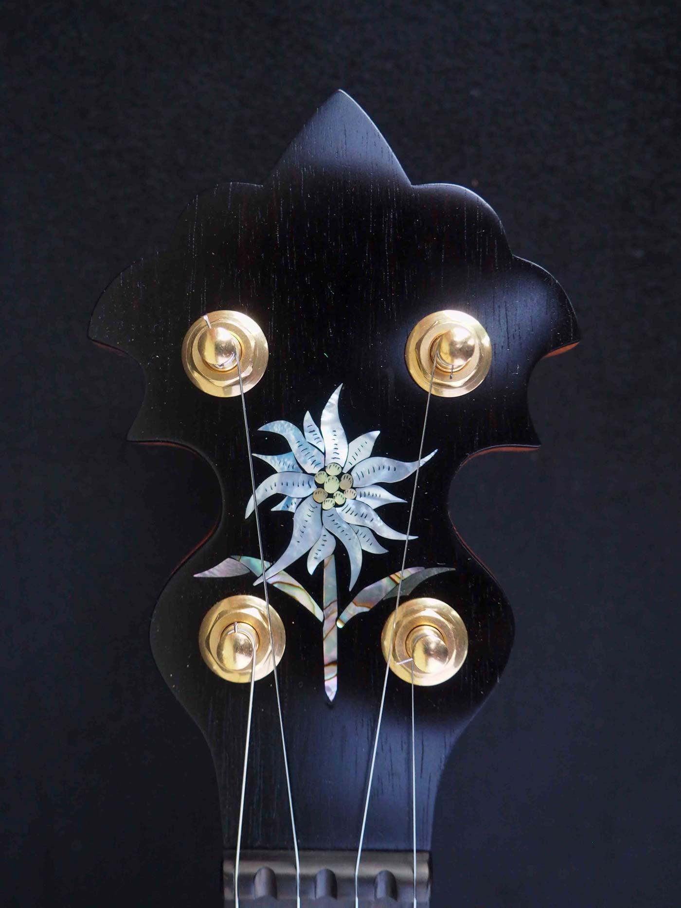 Edelweiss Banjo headstock inlay