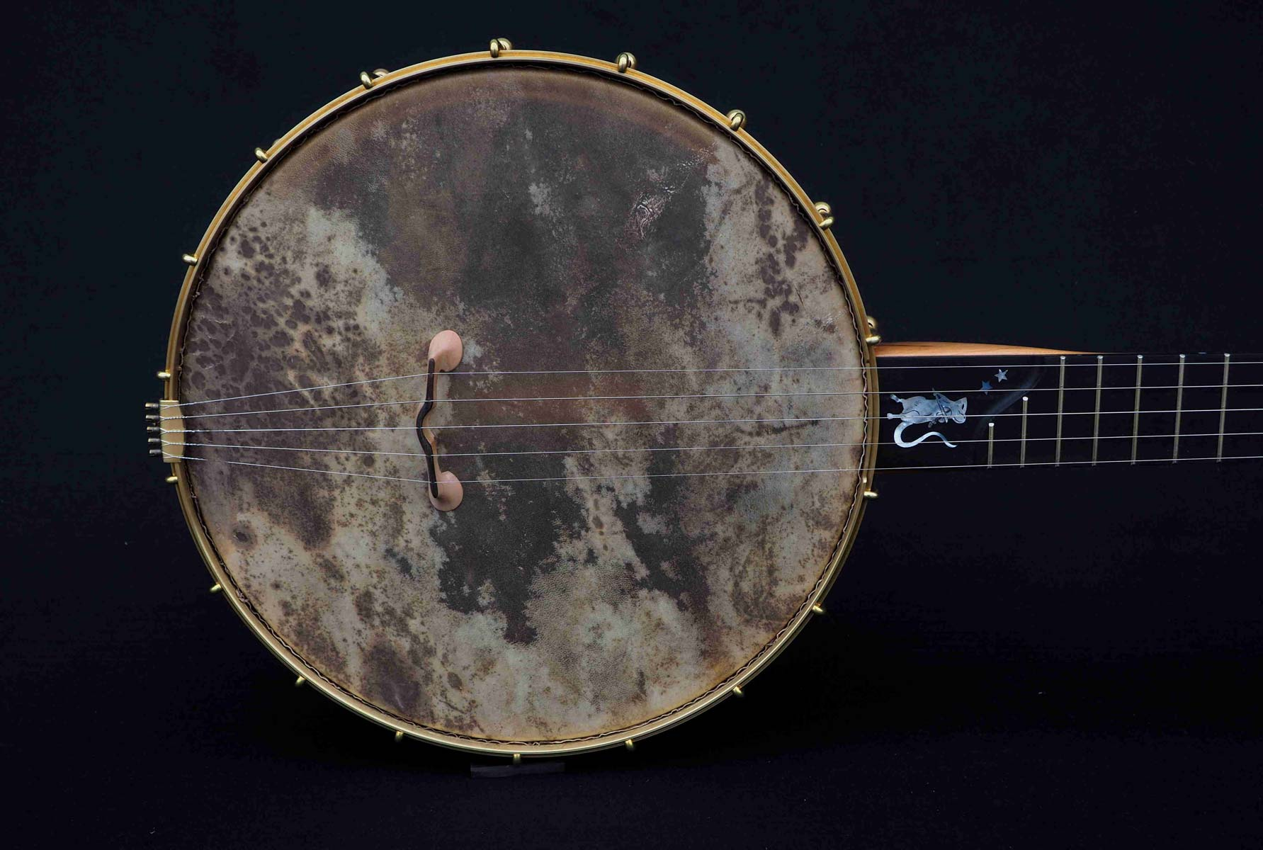 Eagle music 5 string Banjo vellum