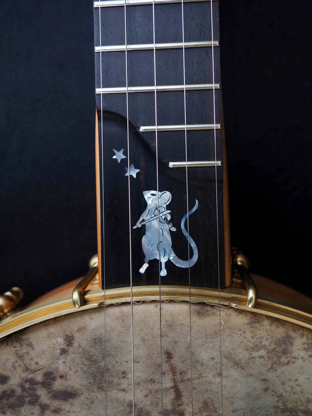 Eagle music 5 string Banjo mouse inlay