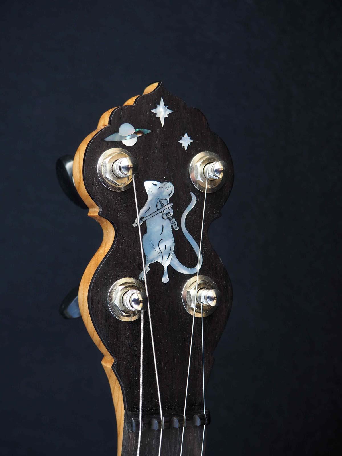 Eagle Music 19 Fret Tenor headstock inlay