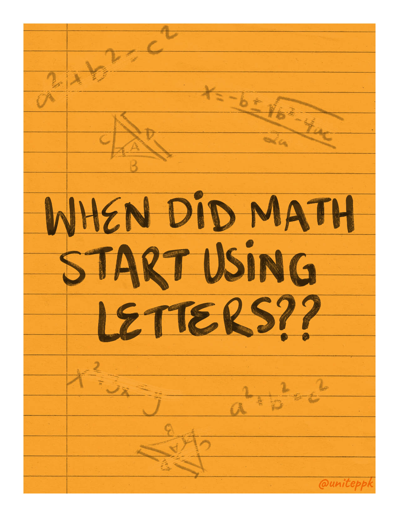 math using letters