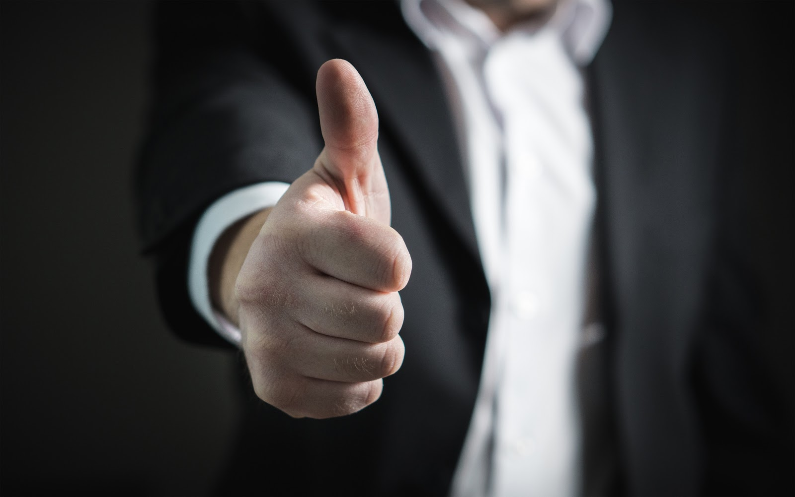 A person with a thumbs up