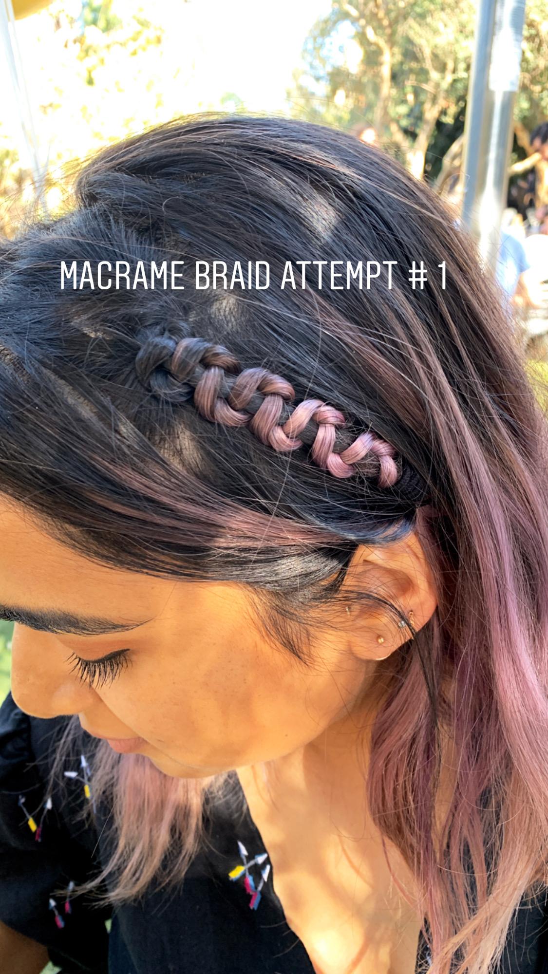 Macrame Braid Attempt
