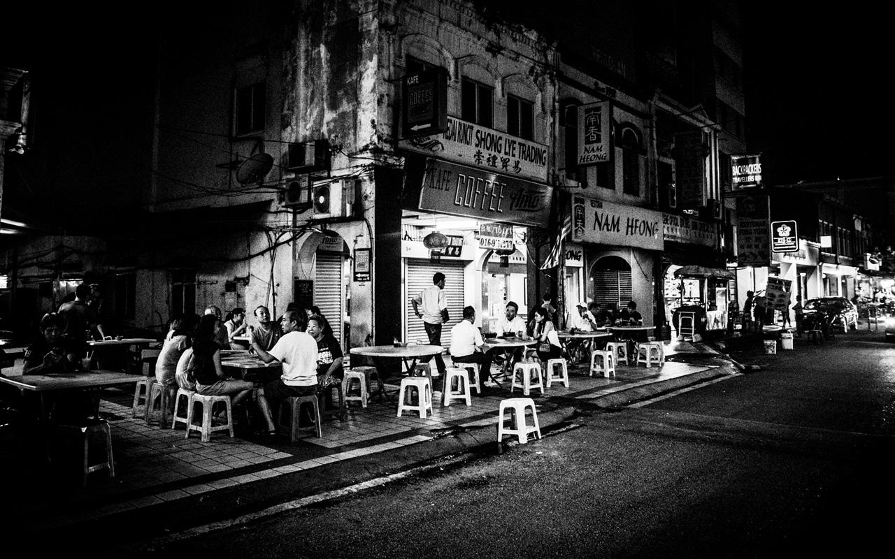 Chinese food stalls near Petaling Street.