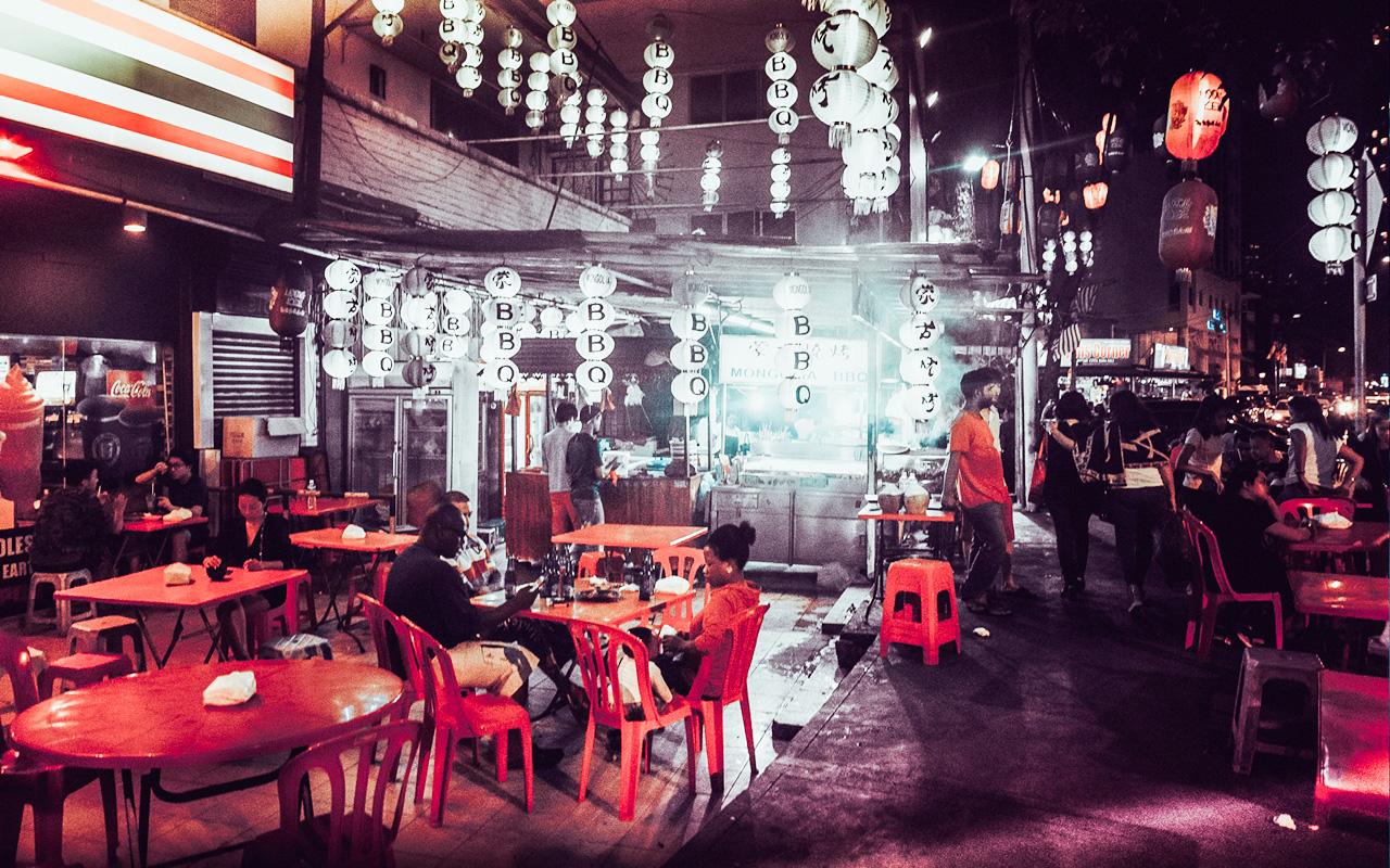 Popular mongolian bbq shop near famous Changkat bar-street.