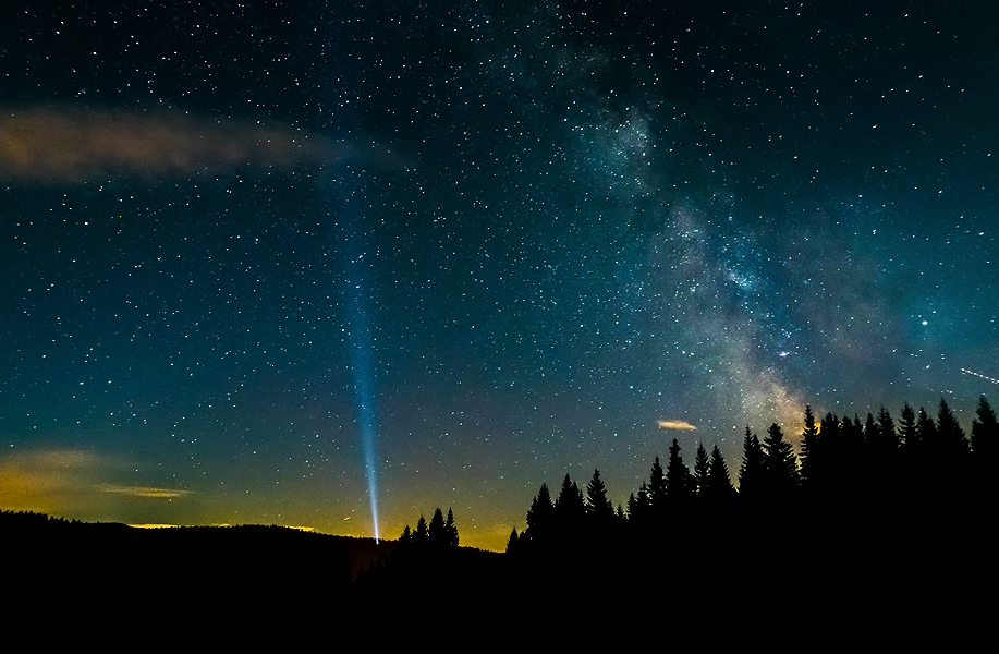 Most of the people living in cities will never see the Milky Way due to massive light pollution
