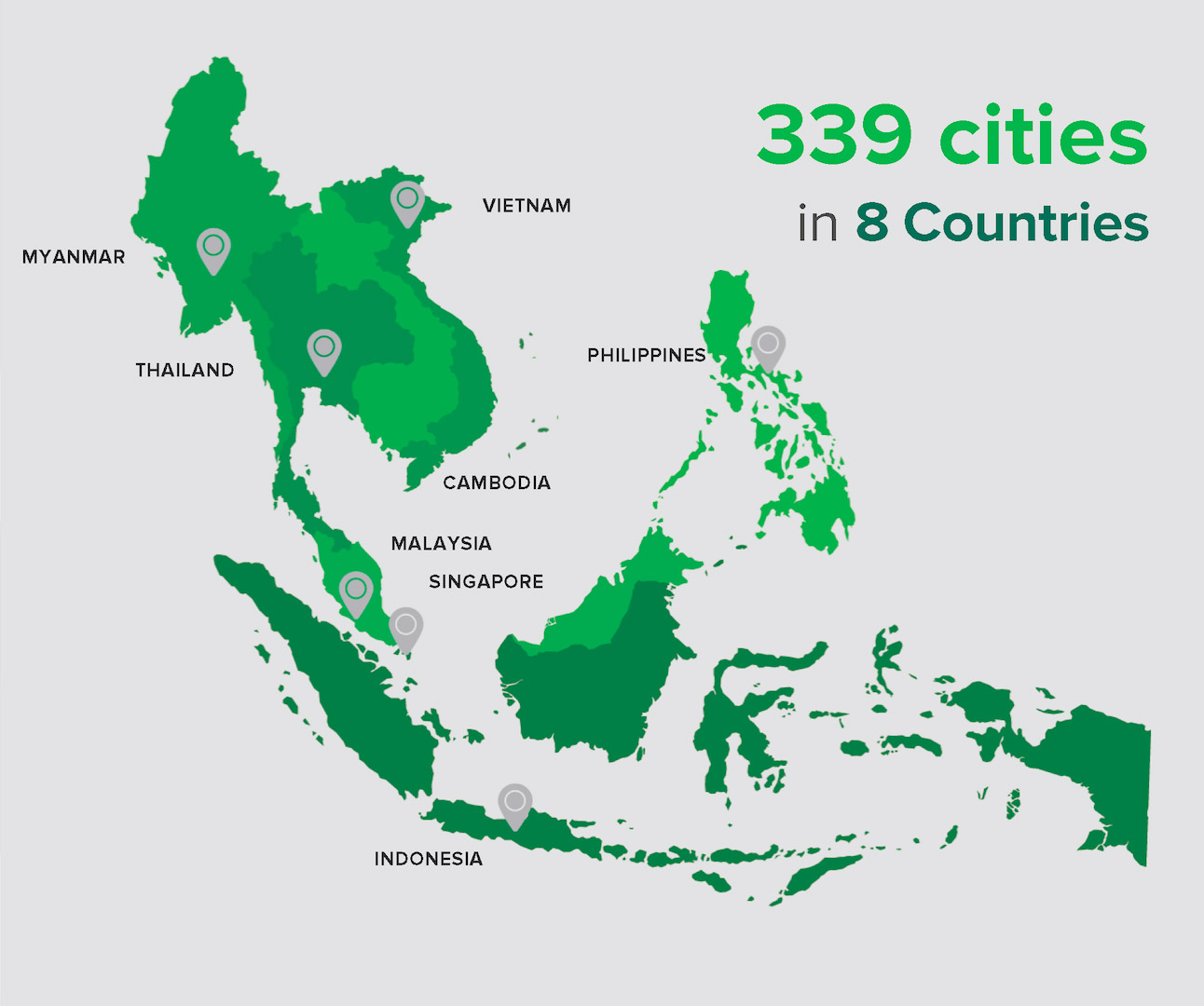 Grab operations span across 8 Southeast Asian countries (Source: Grab)