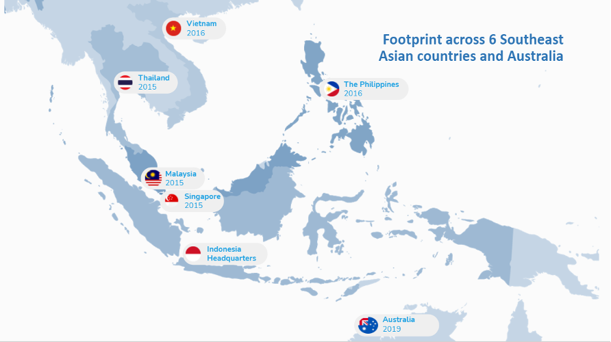 Grab operations span across 8 Southeast Asian countries (Source:Grab)