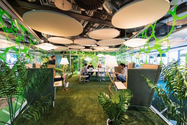 office design interior nature