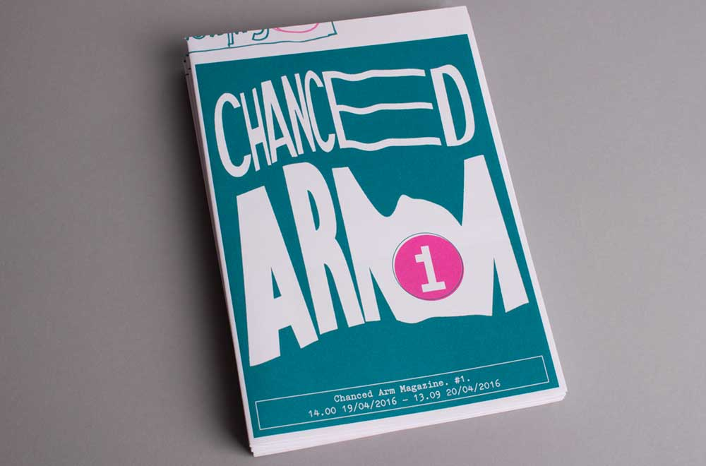 Front cover of issue 1 of chanced Arm mag/a-zine