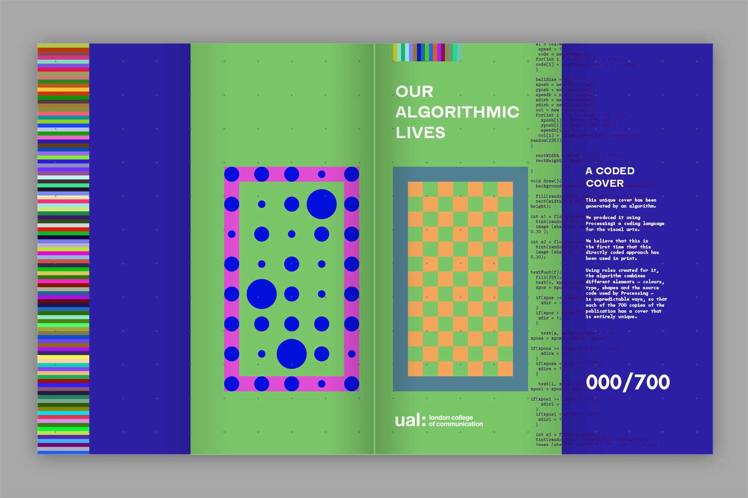 One of the 700 covers for 'our algorithmic lives' publication.