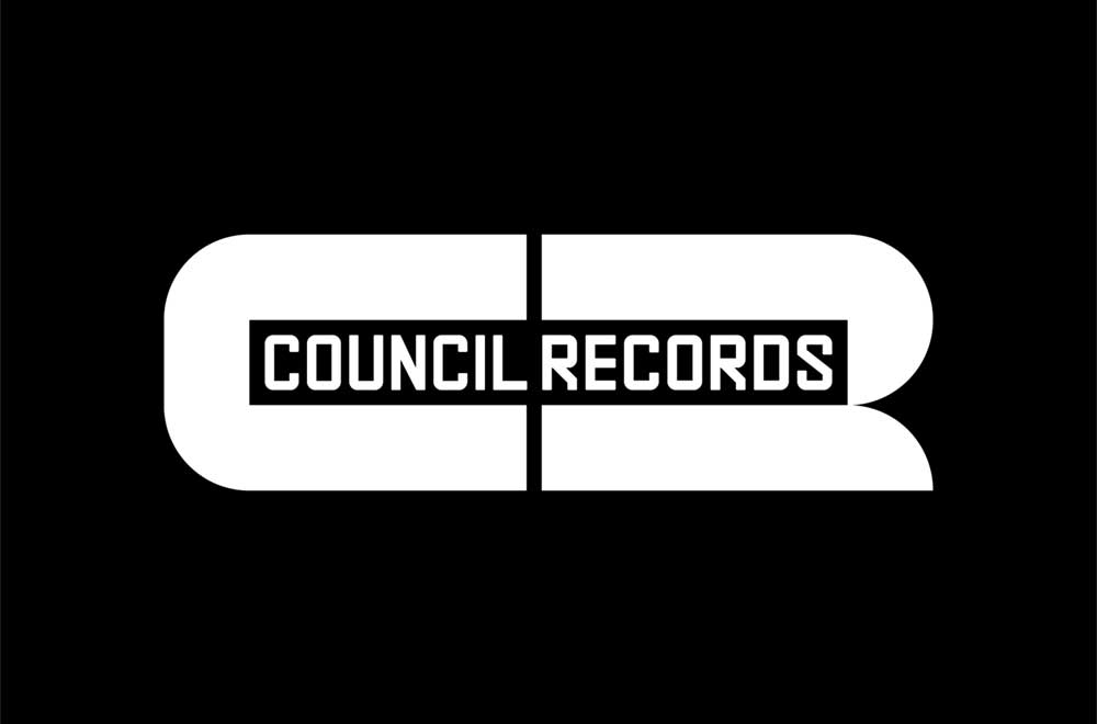 Council records logo (white on black)
