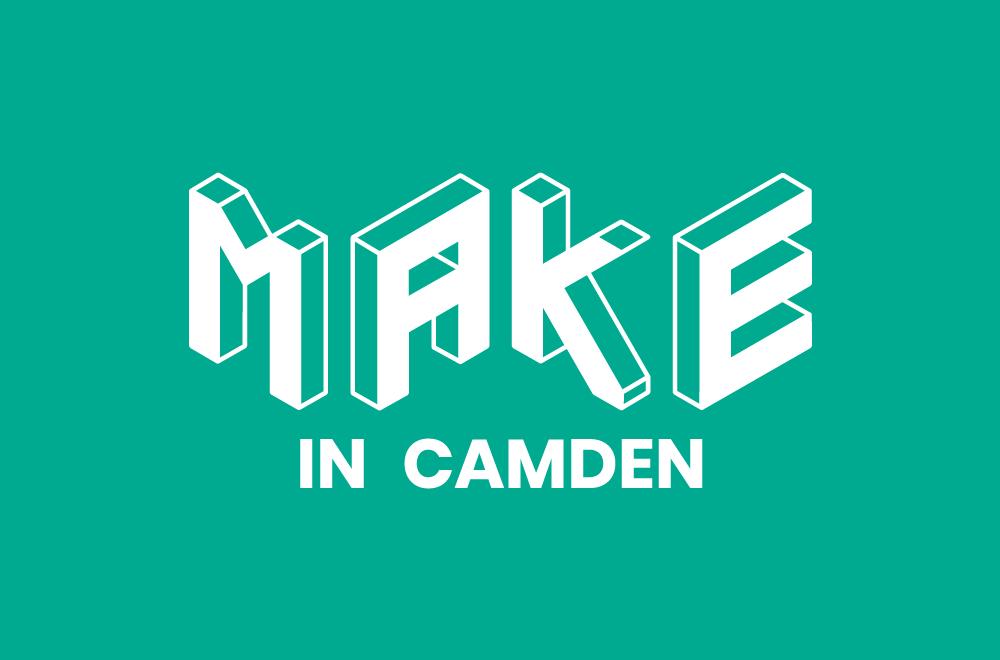 Logo for 'make in' Camden.