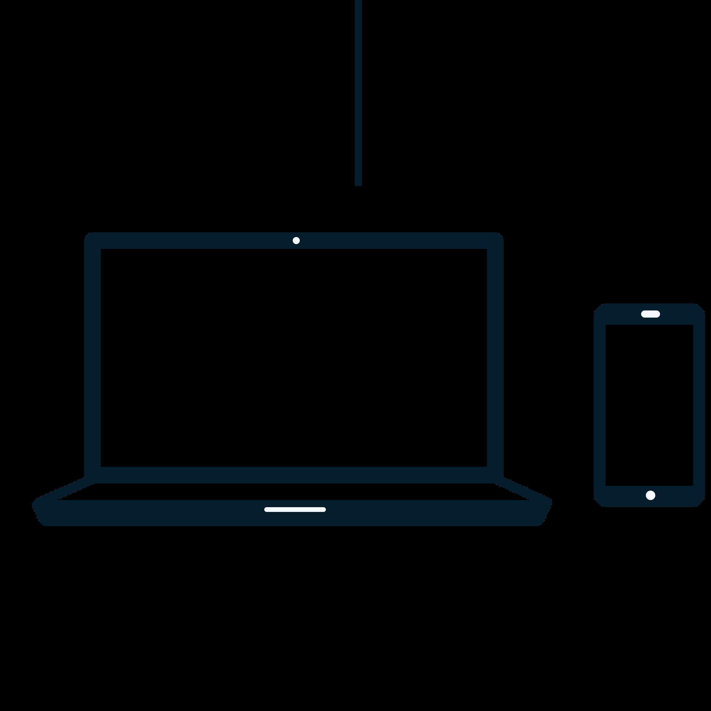 Icon-Grafik eines Laptops und eines Smartphones