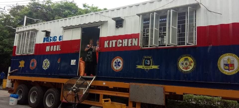 Mobile Kitchen para sa frontliners