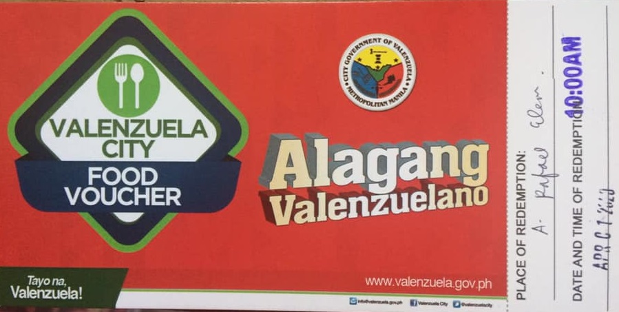 Food Vouchers ng Valenzuela