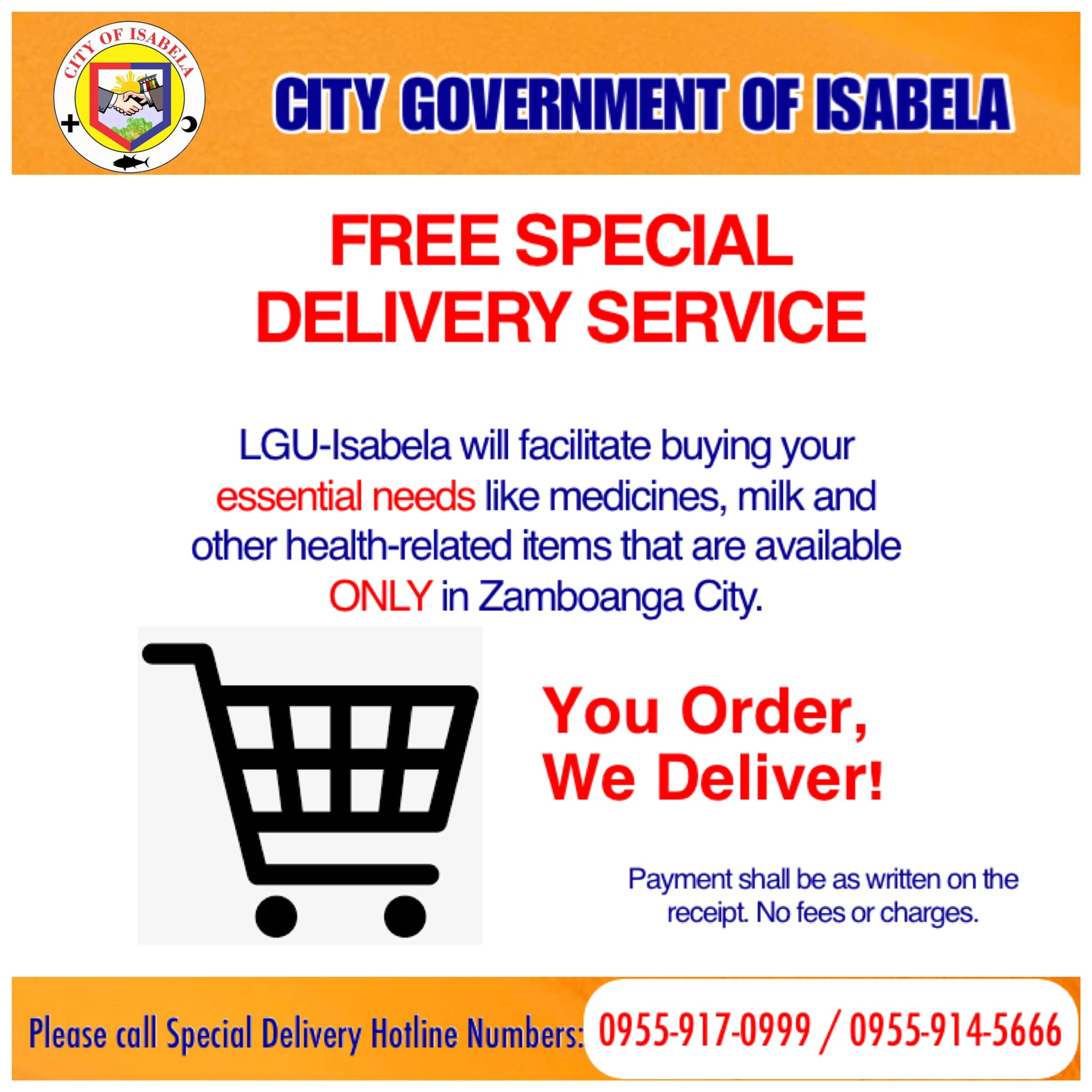 Free Special Delivery Service