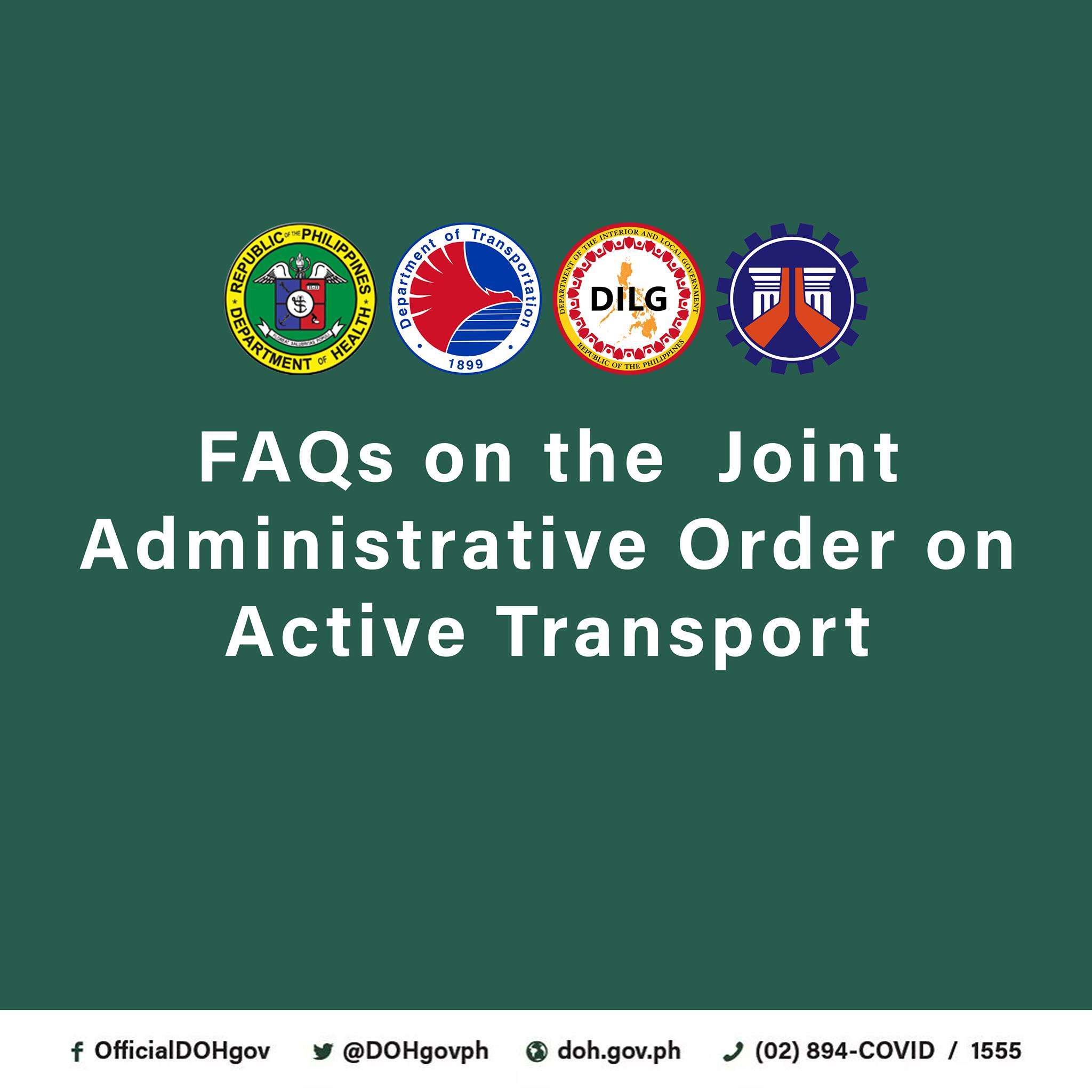 FAQ on the Joint Administrative Order on Active Transport