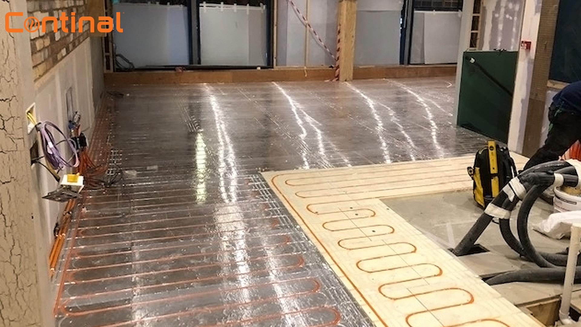 Two-floor retrofit project