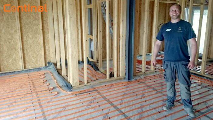 underfloor heating install