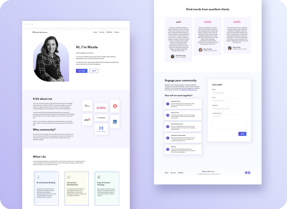 Nicole Website Design & Webflow Development