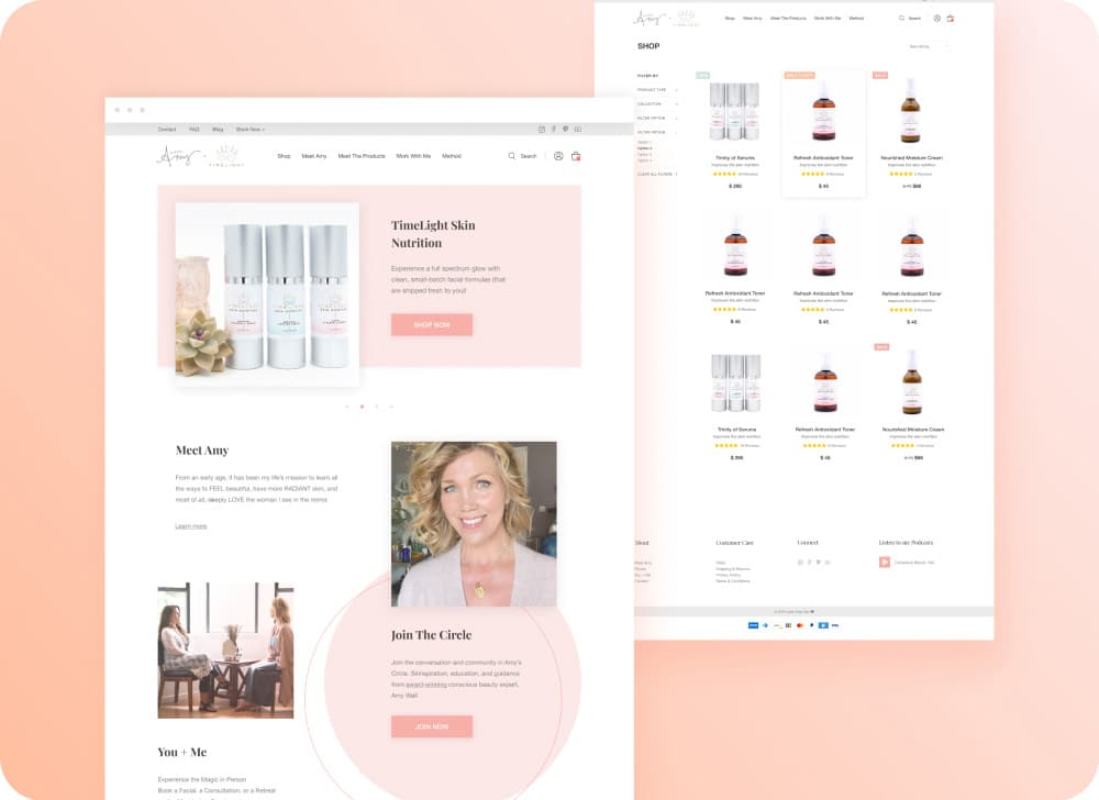 LoveAmySkin Redesign | eCommerce Design | Shopify