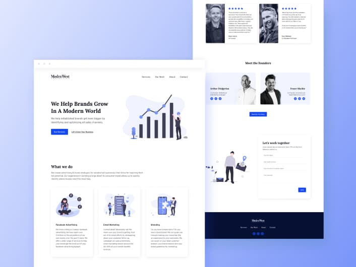 ModrnWest Consulting Website Design & Webflow Development