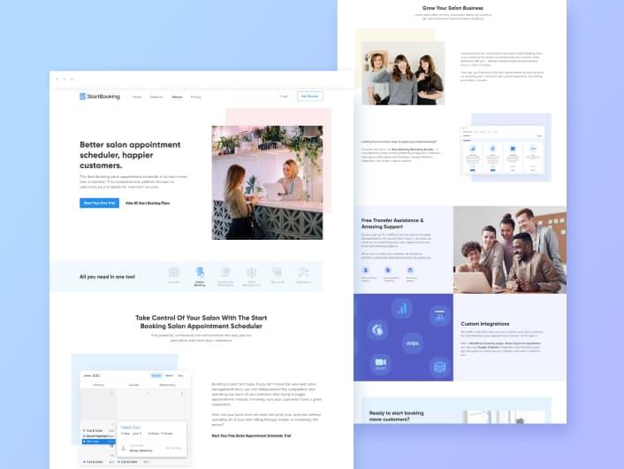 StartBooking Redesign | SaaS Design