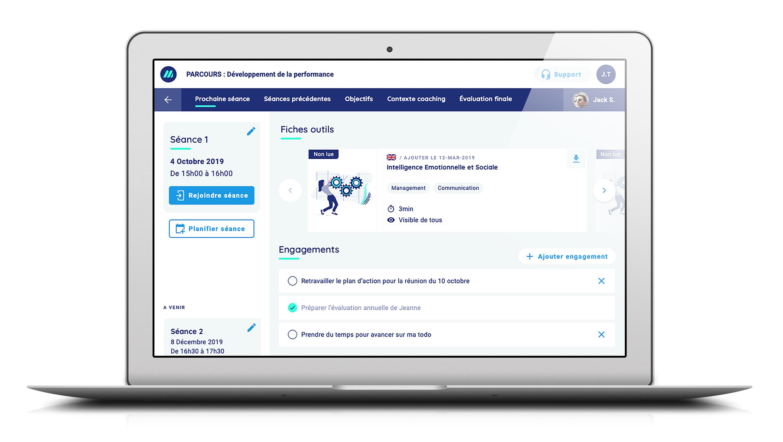 La plateforme digitale de coaching en entreprise