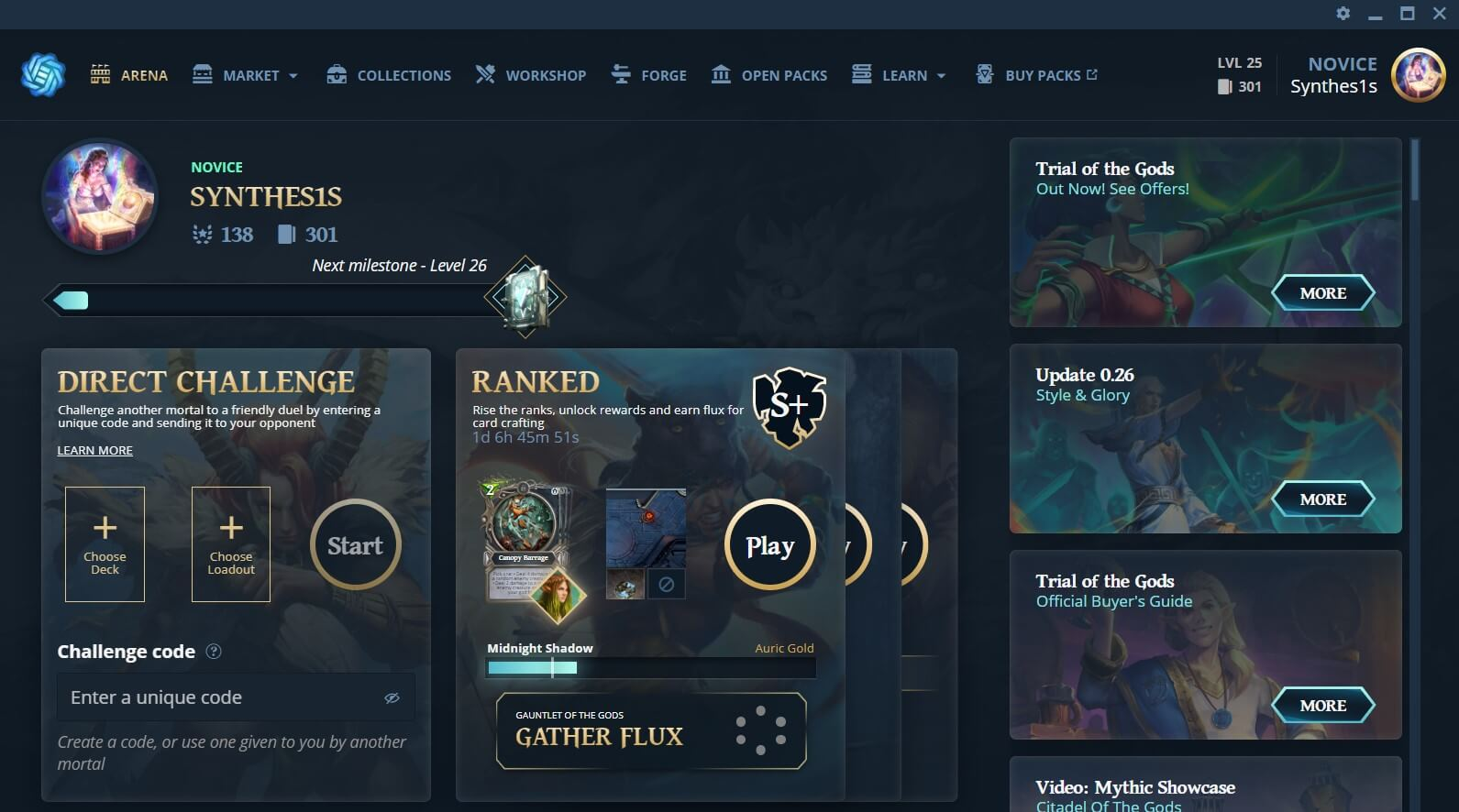 Gods Unchained game client