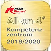 Siegel All-on-4 Kompetenzzentrum 2019/2020