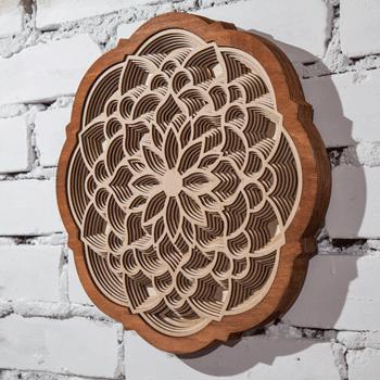 Mandala wall art from stacked layers