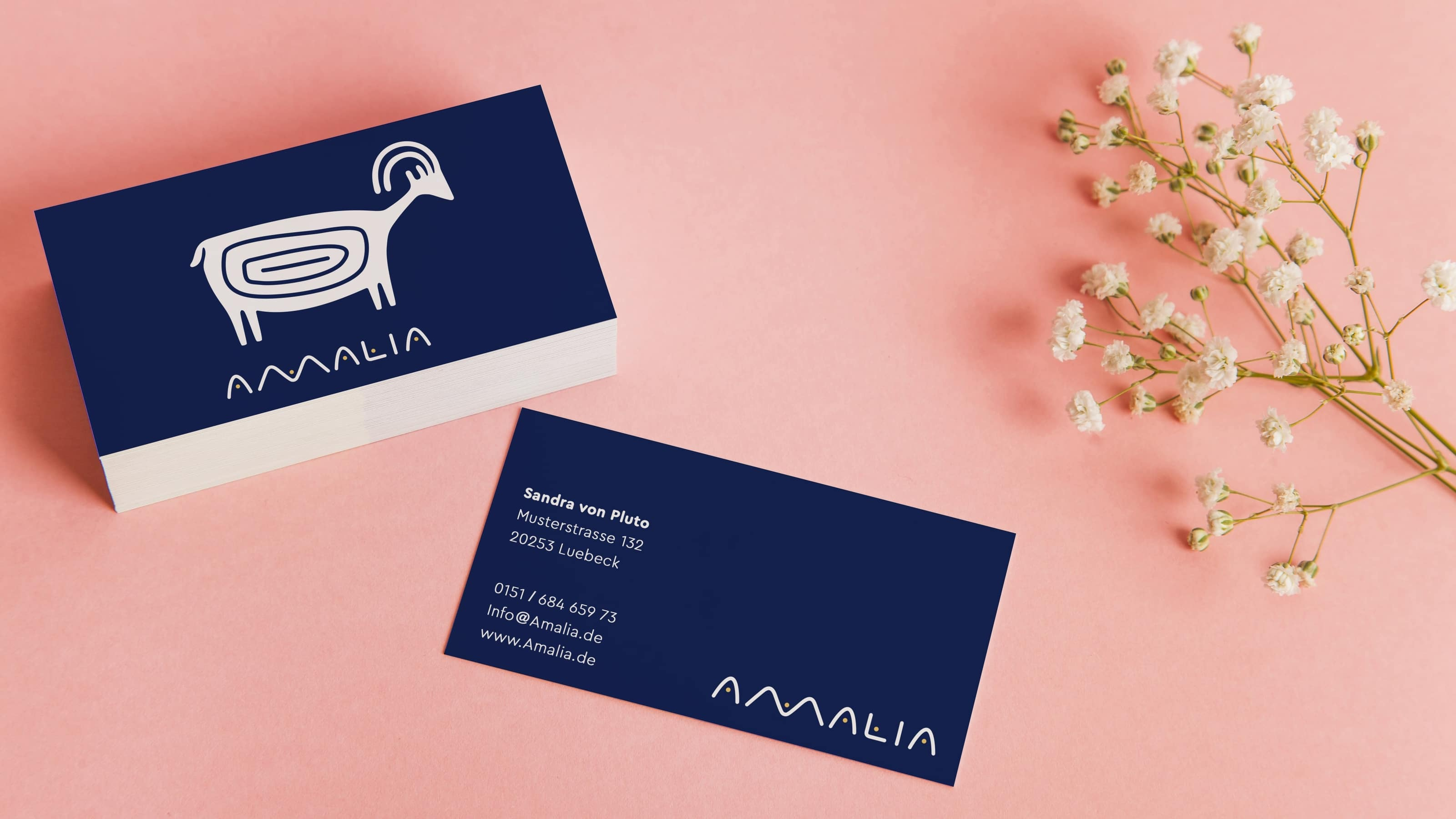 Amalia / Old Business Cards