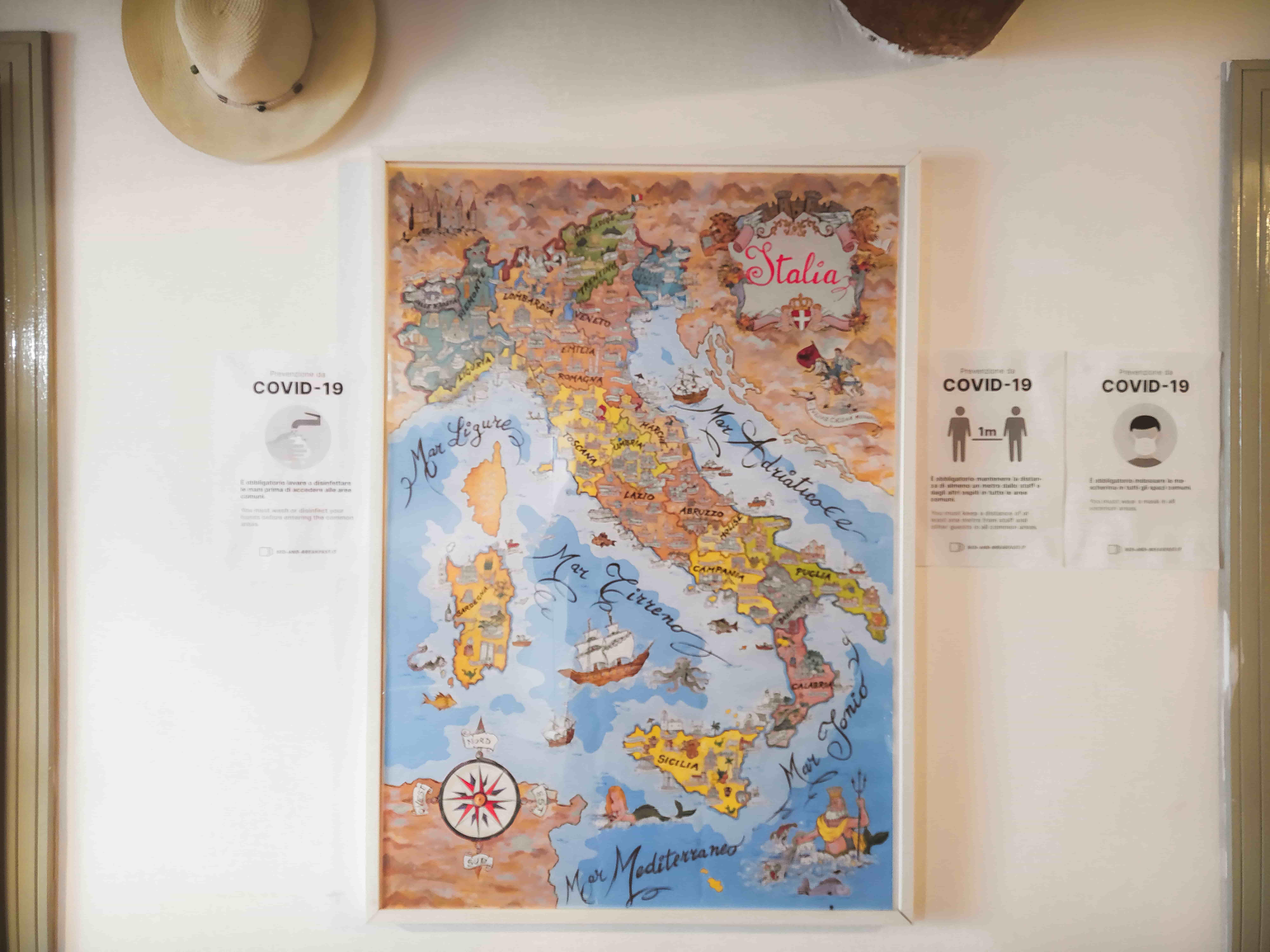 Mappa d'Italia in sala comune